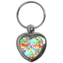 Colorful Mosaic  Key Chains (heart)  by designworld65