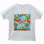 Colorful Mosaic  Kids White T-Shirts
