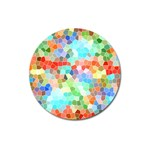 Colorful Mosaic  Magnet 3  (Round) Front