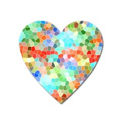 Colorful Mosaic  Heart Magnet by designworld65