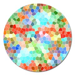 Colorful Mosaic  Magnet 5  (round) by designworld65