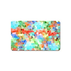Colorful Mosaic  Magnet (name Card) by designworld65
