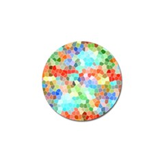 Colorful Mosaic  Golf Ball Marker by designworld65