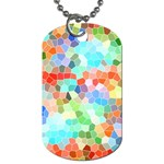 Colorful Mosaic  Dog Tag (Two Sides)