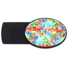 Colorful Mosaic  Usb Flash Drive Oval (2 Gb)  by designworld65