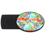 Colorful Mosaic  USB Flash Drive Oval (2 GB)  Front