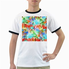 Colorful Mosaic  Ringer T Shirts