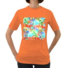 Colorful Mosaic  Women s Dark T Shirt
