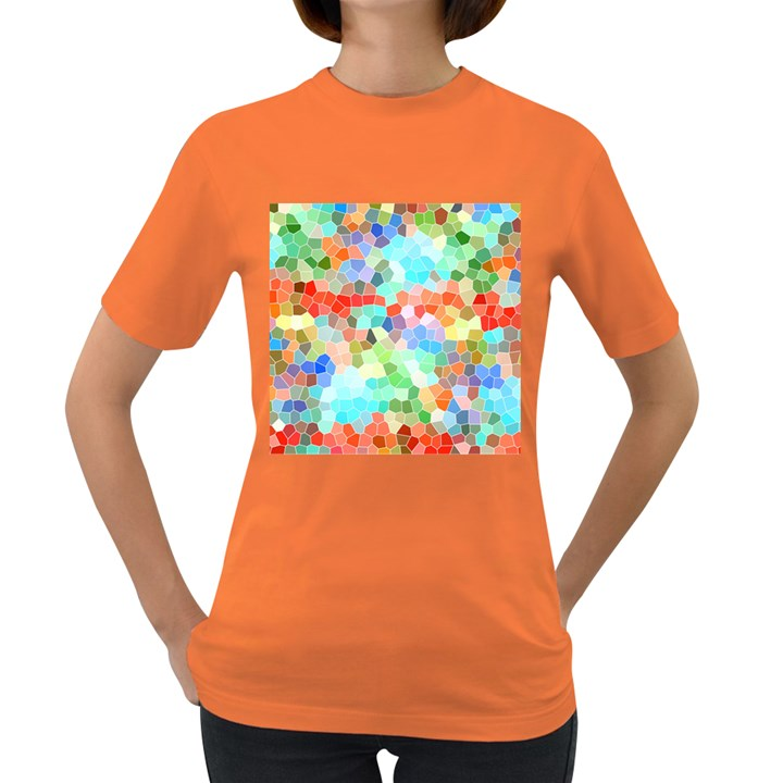 Colorful Mosaic  Women s Dark T-Shirt
