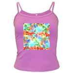 Colorful Mosaic  Dark Spaghetti Tank