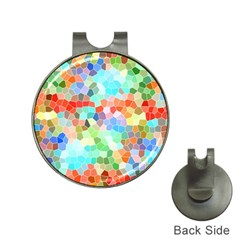 Colorful Mosaic  Hat Clips With Golf Markers by designworld65