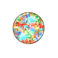 Colorful Mosaic  Hat Clip Ball Marker (4 Pack) by designworld65