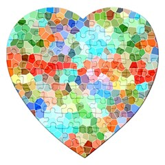 Colorful Mosaic  Jigsaw Puzzle (heart) by designworld65