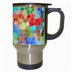 Colorful Mosaic  Travel Mugs (White) Right