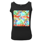 Colorful Mosaic  Women s Black Tank Top