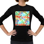 Colorful Mosaic  Women s Long Sleeve Dark T-Shirts