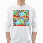Colorful Mosaic  White Long Sleeve T-Shirts