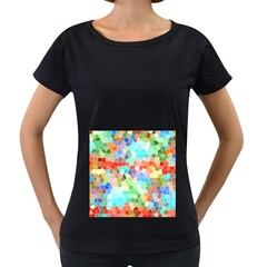Colorful Mosaic  Women s Loose Fit T Shirt (black) by designworld65