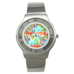 Colorful Mosaic  Stainless Steel Watch by designworld65