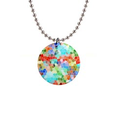 Colorful Mosaic  Button Necklaces by designworld65