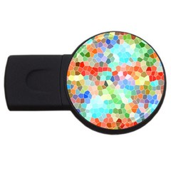 Colorful Mosaic  Usb Flash Drive Round (4 Gb)  by designworld65