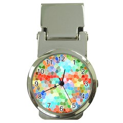 Colorful Mosaic  Money Clip Watches by designworld65