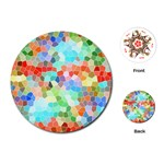 Colorful Mosaic  Playing Cards (Round)