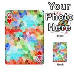 Colorful Mosaic  Playing Cards 54 Designs  Front - HeartQ