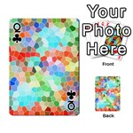 Colorful Mosaic  Playing Cards 54 Designs  Front - ClubQ