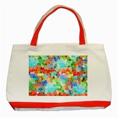 Colorful Mosaic  Classic Tote Bag (red) by designworld65