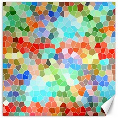Colorful Mosaic  Canvas 12  X 12