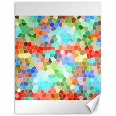 Colorful Mosaic  Canvas 12  X 16   by designworld65