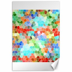 Colorful Mosaic  Canvas 12  X 18   by designworld65