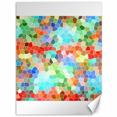 Colorful Mosaic  Canvas 36  X 48   by designworld65