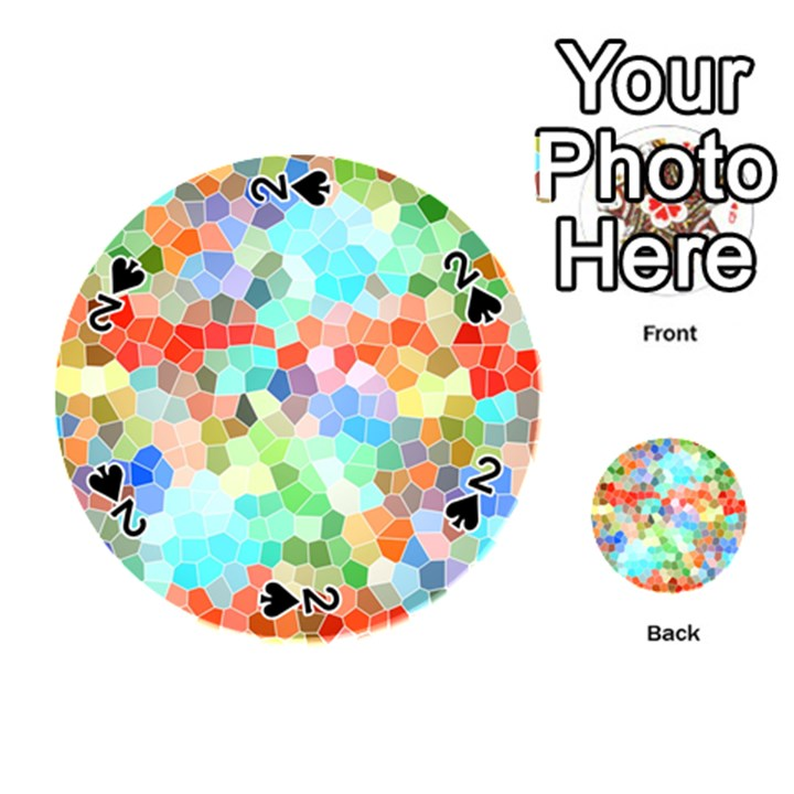Colorful Mosaic  Playing Cards 54 (Round)