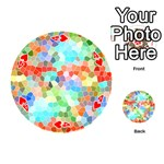 Colorful Mosaic  Playing Cards 54 (Round)  Front - Heart4