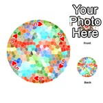 Colorful Mosaic  Playing Cards 54 (Round)  Front - Heart5