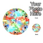 Colorful Mosaic  Playing Cards 54 (Round)  Front - Club7