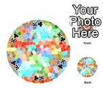 Colorful Mosaic  Playing Cards 54 (Round)  Front - ClubK