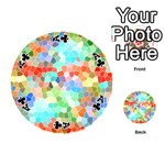 Colorful Mosaic  Playing Cards 54 (Round)  Front - ClubA