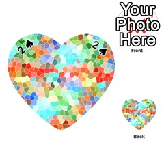 Colorful Mosaic  Playing Cards 54 (heart)  by designworld65