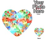 Colorful Mosaic  Playing Cards 54 (Heart)  Front - Diamond9