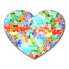 Colorful Mosaic  Heart Mousepads by designworld65