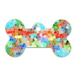 Colorful Mosaic  Dog Tag Bone (One Side)