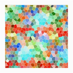 Colorful Mosaic  Medium Glasses Cloth (2 Side) by designworld65