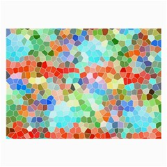 Colorful Mosaic  Large Glasses Cloth (2 Side) by designworld65