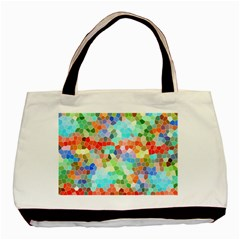 Colorful Mosaic  Basic Tote Bag (two Sides) by designworld65