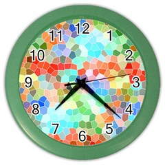 Colorful Mosaic  Color Wall Clocks by designworld65