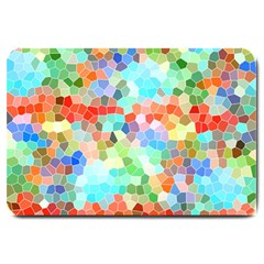 Colorful Mosaic  Large Doormat