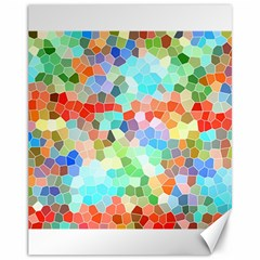 Colorful Mosaic  Canvas 11  X 14   by designworld65